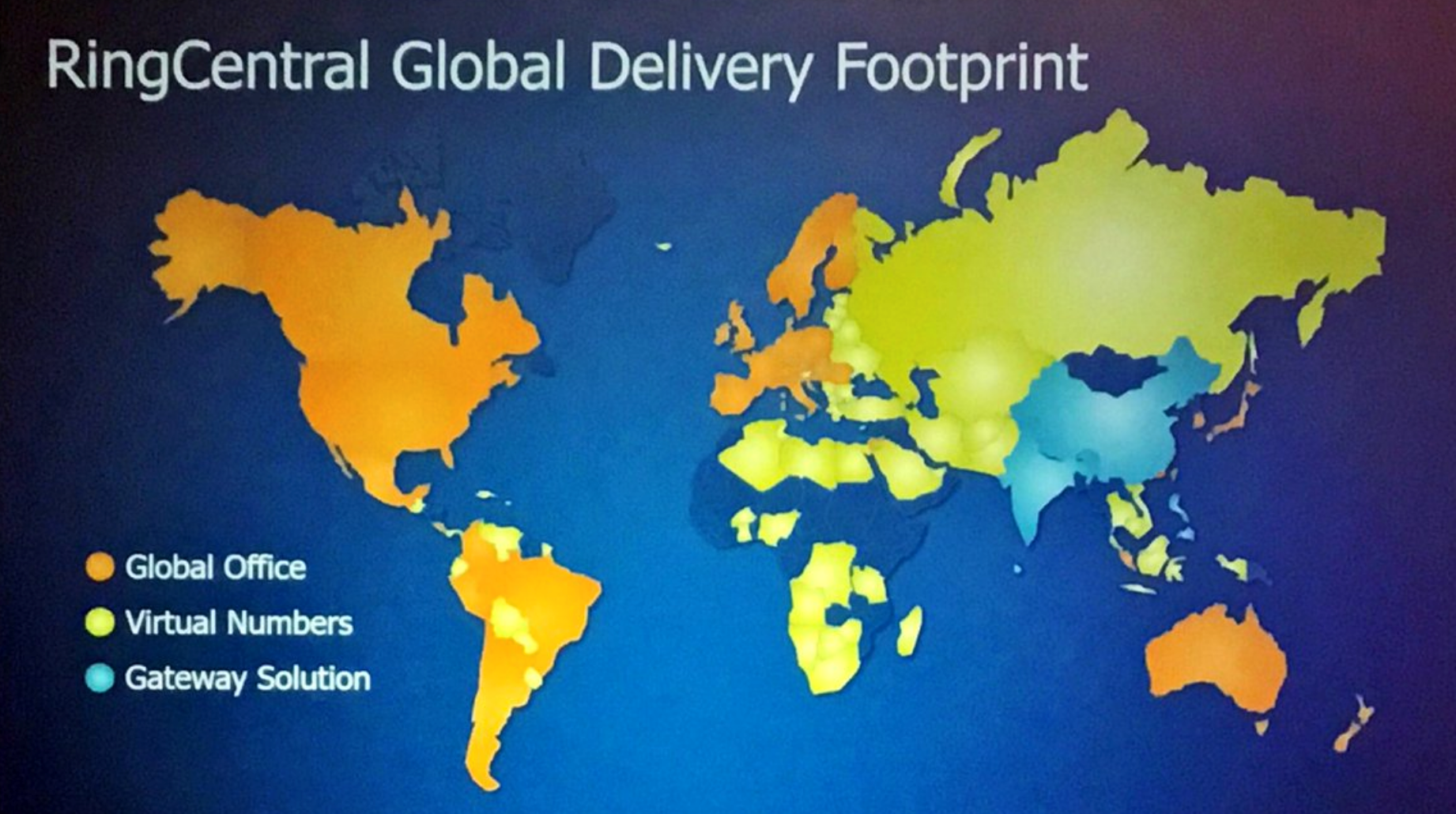 RingCentral Global Delivery Footprint