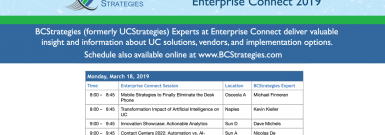 Enterprise Connect 2019 BCStrategies Schedule
